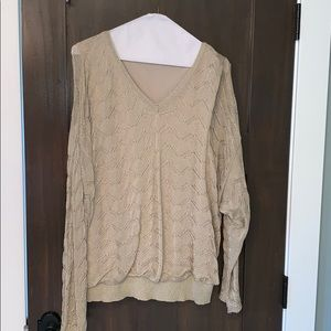 Gold light weight sweater